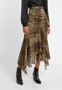 The Kooples - JUPE - A-line skirt - brown/beige - 0