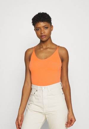 STRAPPY BACK THONG BODYSUIT - Top - melon