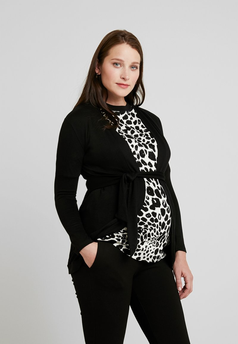 Envie de Fraise - MILONGA MATERNITY CARDIGAN - Cardigan - black