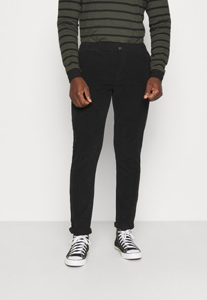 RON PANTS - Spodnie materiałowe - black