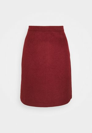 SKIRT - A-line skirt - bordeaux red