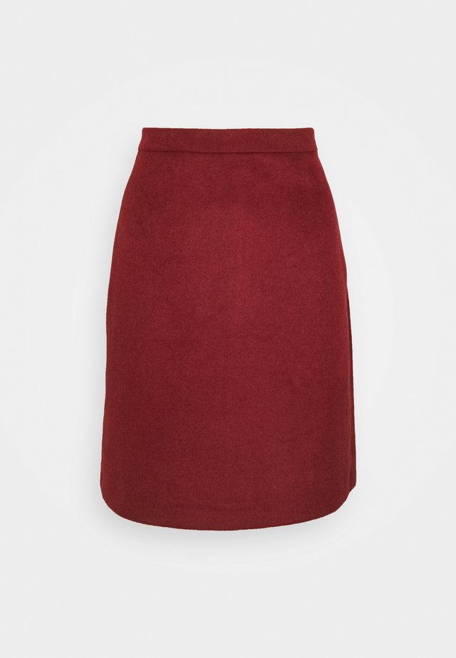 SKIRT - A-lijn rok - bordeaux red