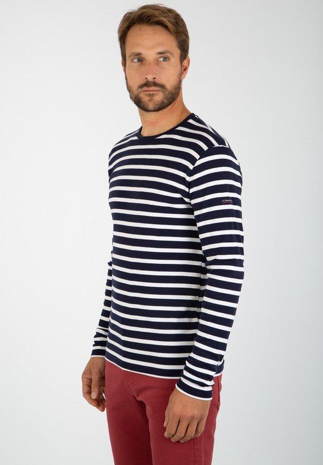 CROZON - MARINIÈRE - T-SHIRT - T-shirt à manches longues - navire blanc