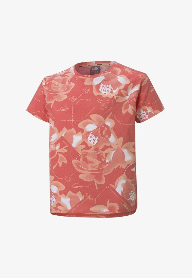 T-shirt print - sun kissed coral