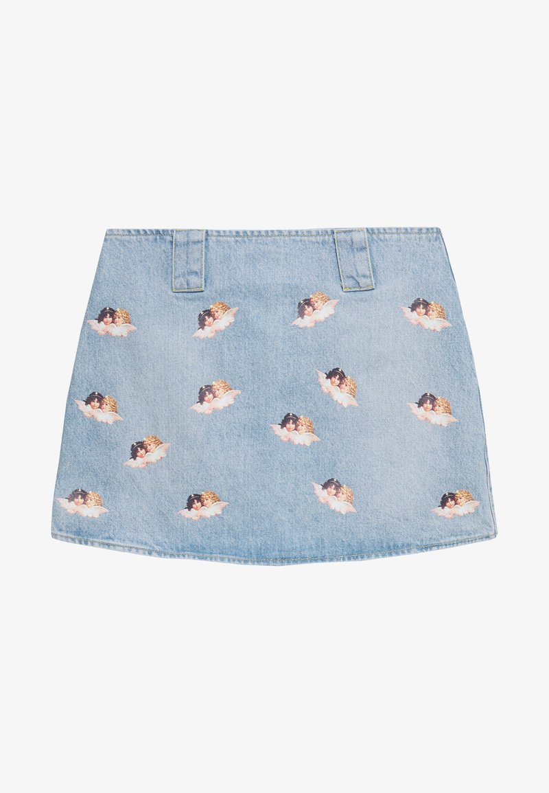 Fiorucci - ALL OVER ANGELS MINI SKIRT - A-line skirt - light vintage