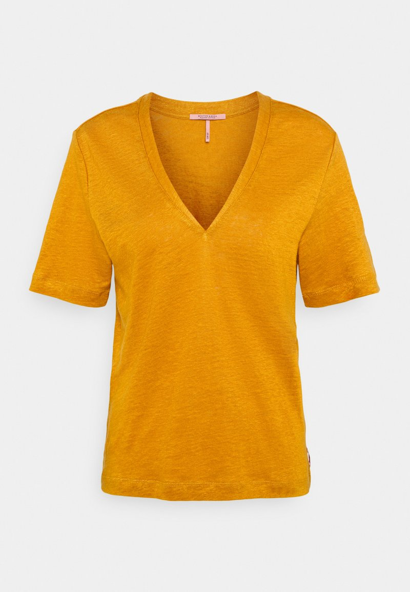 Scotch & Soda - CLASSIC TEE WITH V NECKLINE - Basic T-shirt - marigold