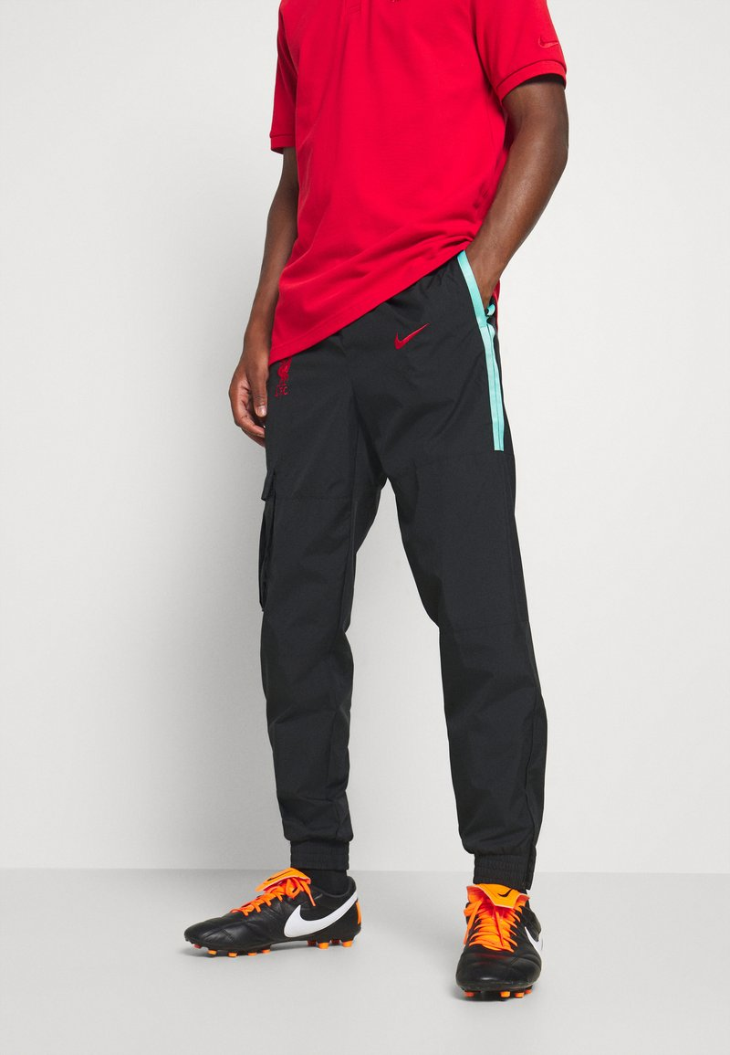 Nike Performance - FC LIVERPOOL PANT - Tracksuit bottoms - black/hyper turquoise/university red