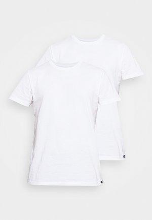 TWIN CREW 2 PACK - Jednoduché triko - white