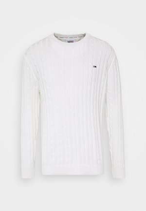 ESSENTIAL CABLE SWEATER - Jumper - ecru
