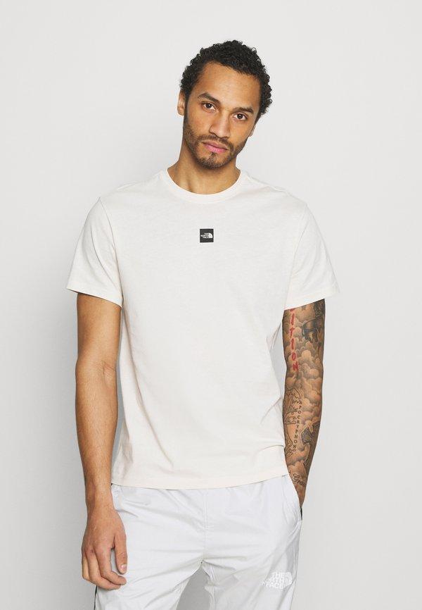 The North Face CENTRAL LOGO - T-shirt z nadrukiem - vintage white/mleczny Odzież Męska ABJF
