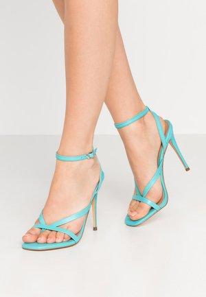 AMADA - Sandály na vysokém podpatku - teal