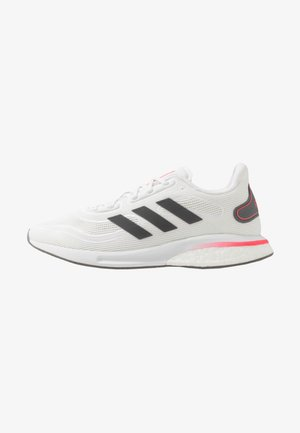 SUPERNOVA - Neutral running shoes - footwear white/grey five/signal pink