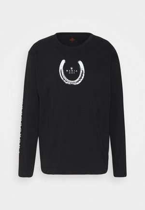 EXPORT LONG SLEEVE - Pitkähihainen paita - black
