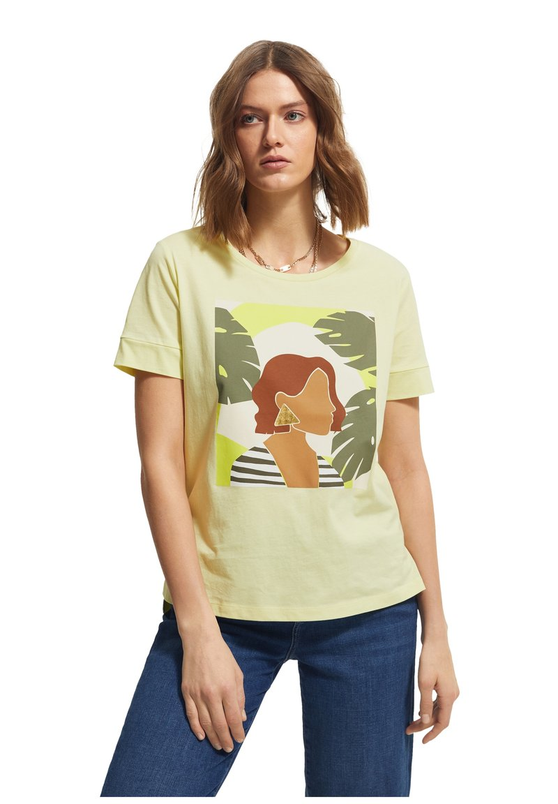 comma casual identity - Print T-shirt - lime placed woman