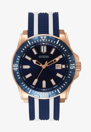 SPORT DATE - Watch - blue/rose gold/white