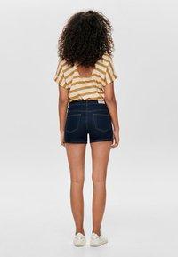 ONLY - CARMEN REG - Denim shorts - dark blue denim - 2