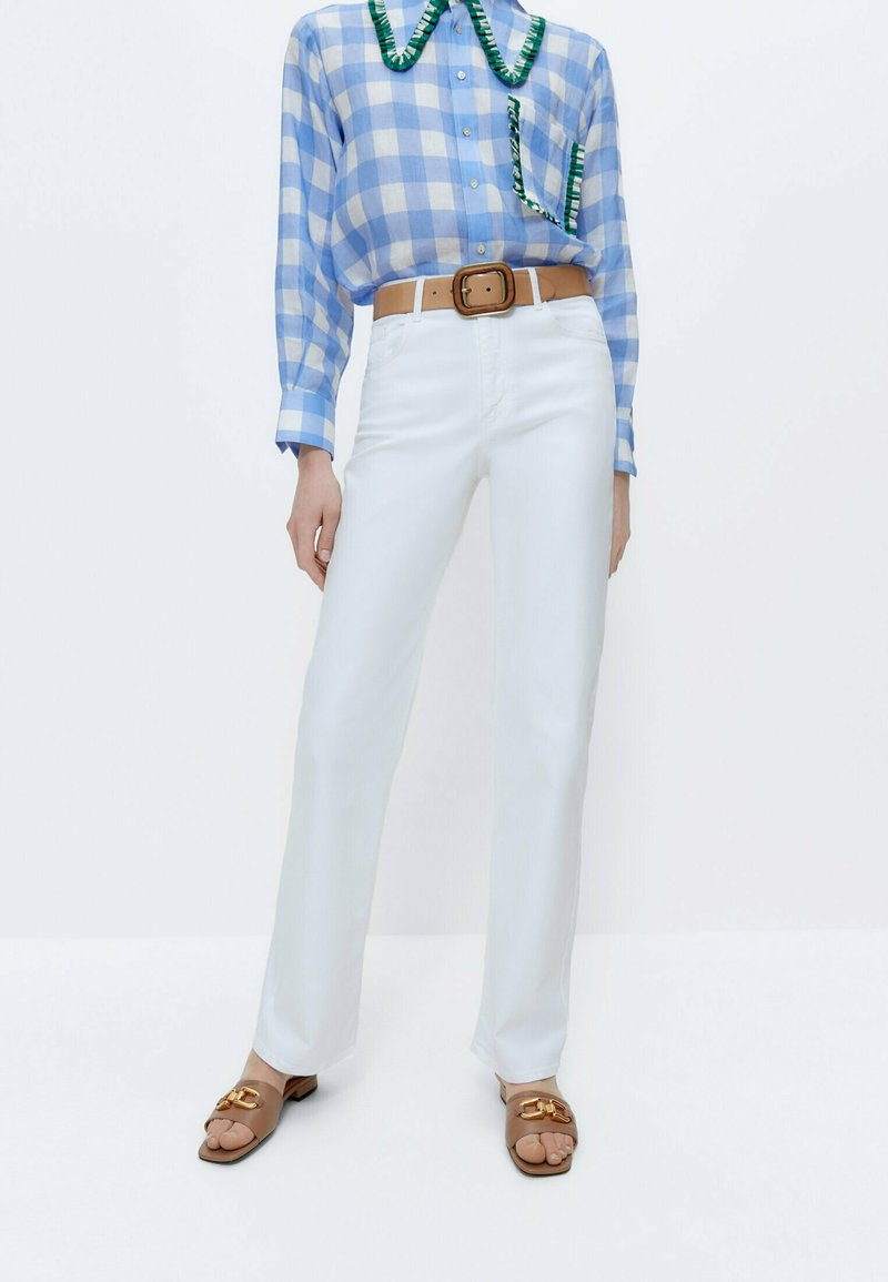 Uterqüe - Straight leg jeans - white