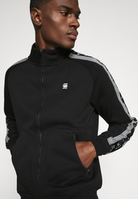 G-Star - STRIPE JACKET - Zip-up hoodie - black - 5