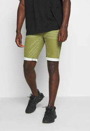 LLEIDA - Denim shorts - pesto