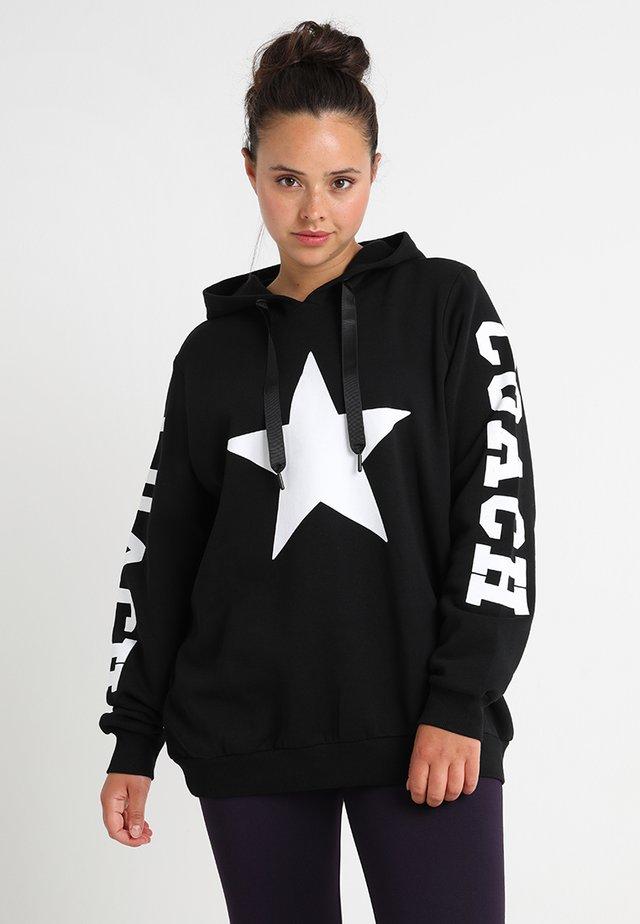 AVEGAS - Sweat à capuche - black/white star