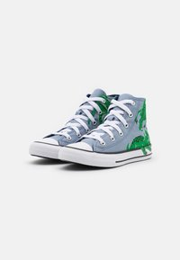 Converse - CHUCK TAYLOR ALL STAR DINO DAZE UNISEX - Sneakers alte - blue slate/midnight navy/green - 1