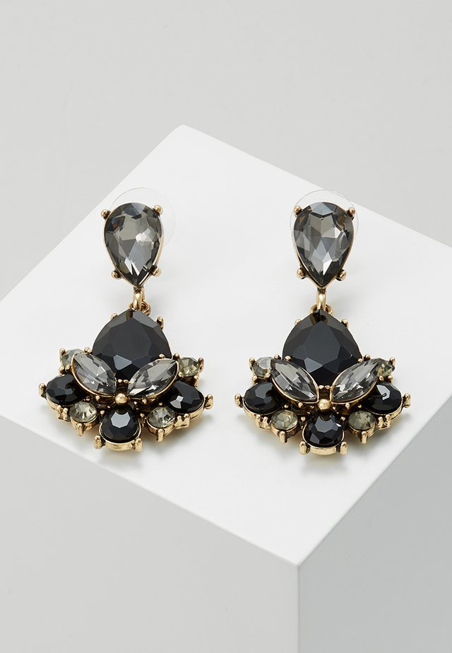 TERZIA - Earrings - antikgold-coloured/black