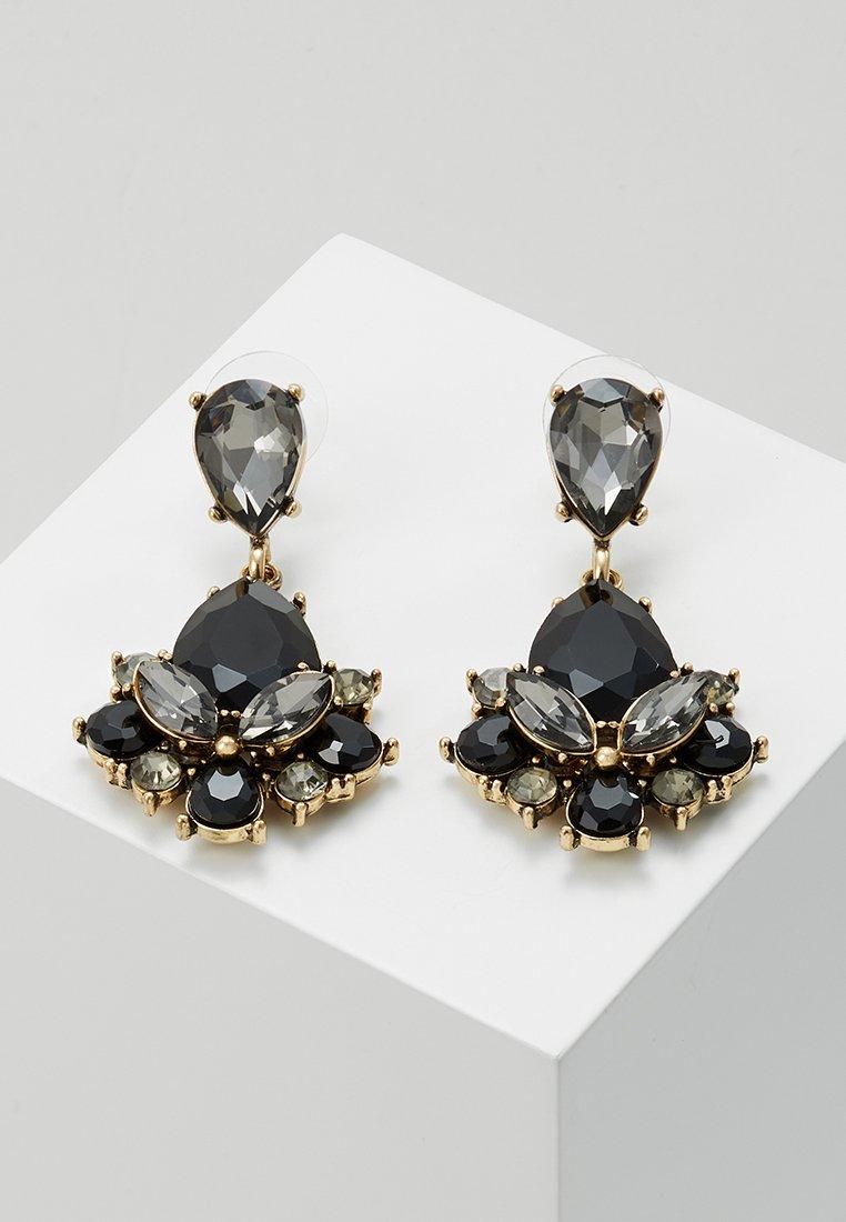 sweet deluxe - TERZIA - Earrings - antikgold-coloured/black