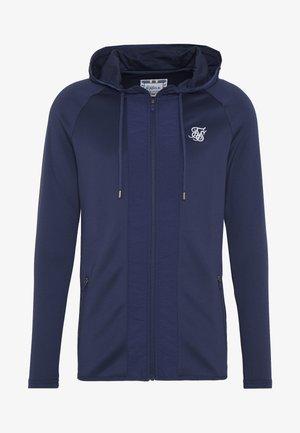 CREASED ZIP THROUGH HOODIE - Zip-up hoodie - navy