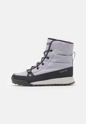 TERREX CHOLEAH PADDED - Trekingové boty - grey/dough solid grey/purple tint