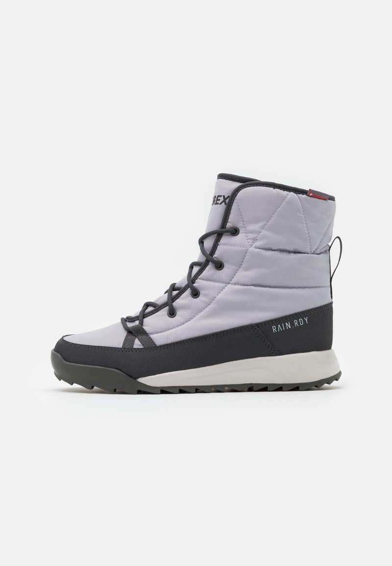 adidas Performance - TERREX CHOLEAH PADDED - Hiking shoes - grey/dough solid grey/purple tint