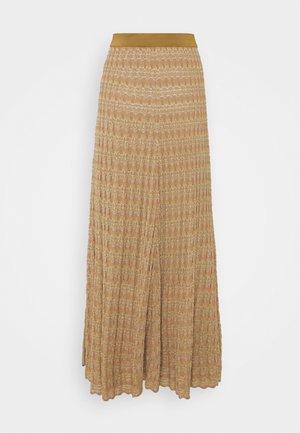 DONAX - Maxi skirt - golden beige