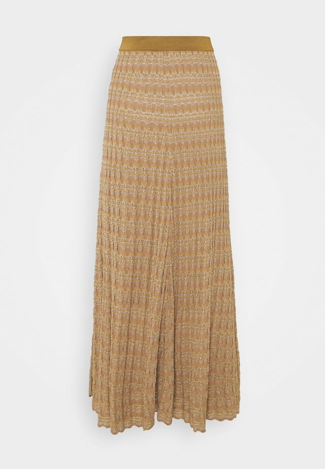 DONAX - Maxi skirt - golden beige