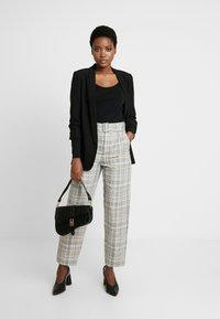 Anna Field - 2 PACK - Long sleeved top - black/black - 1