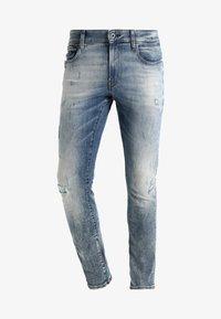 G-Star - 3301 DECONSTRUCTED SUPER SLIM - Slim fit jeans - blue denim - 5