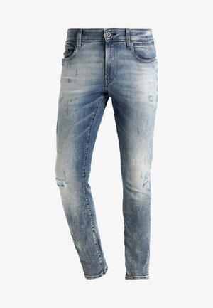 3301 DECONSTRUCTED SUPER SLIM - Slim fit jeans - blue denim