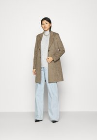 Anna Field - BASIC-PERKIN NECK - Jumper - mottled light grey - 1