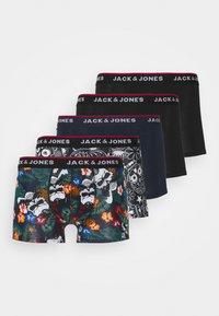 Jack & Jones - JACPRINTED TRUNKS 5 PACK - Pants - black/navy blazer - 5
