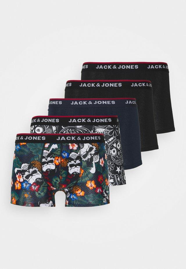 JACPRINTED TRUNKS 5 PACK - Culotte - black/navy blazer