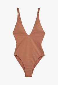 Seafolly - STARDUST DEEP V NECK MAILLOT - Swimsuit - bronze - 0