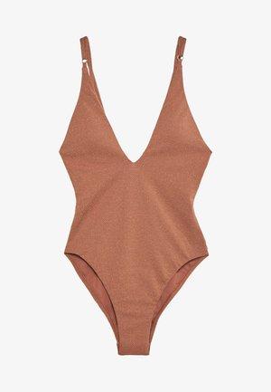 STARDUST DEEP V NECK MAILLOT - Swimsuit - bronze