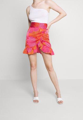 SHELL WRAP SKIRT - Mini skirt - multi