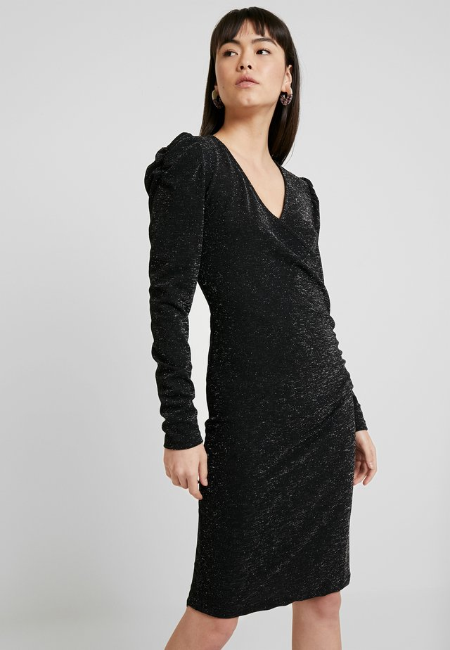 SOLIN DRESS - Trikoomekko - black