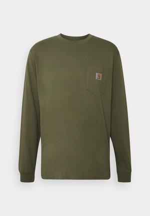 POCKET  - Bluzka z długim rękawem - dollar green