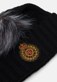 Lauren Ralph Lauren - CABLE PATCH HAT - Lue - black - 2