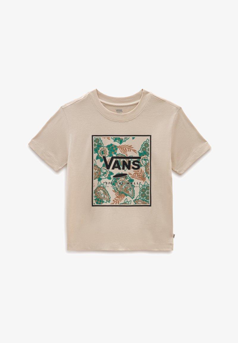 Vans - WM MONTAUK PRINT BOX BOXY SS - T-shirt med print - oatmeal