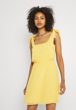 Day dress - yellow/white