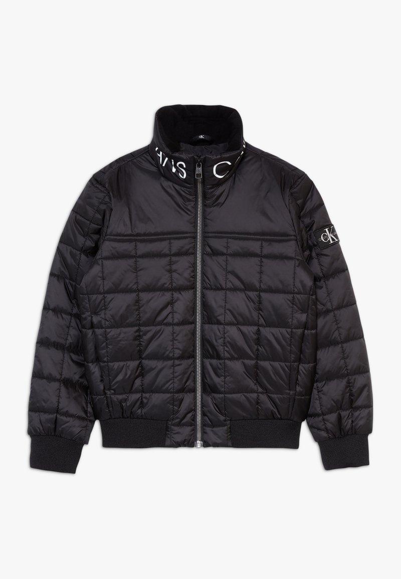Calvin Klein Jeans - SQUARE QUILT LIGHT  - Winter jacket - black