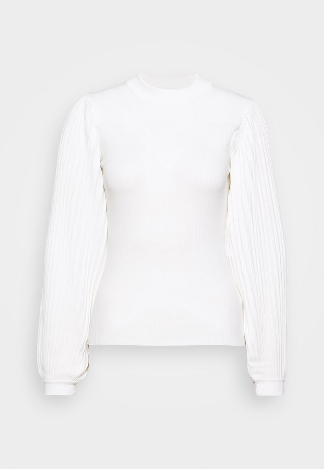PLEATED - Jersey de punto - off white