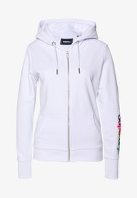 Superdry - SLEEVE ZIP HOOD - Hettejakke - optic - 0