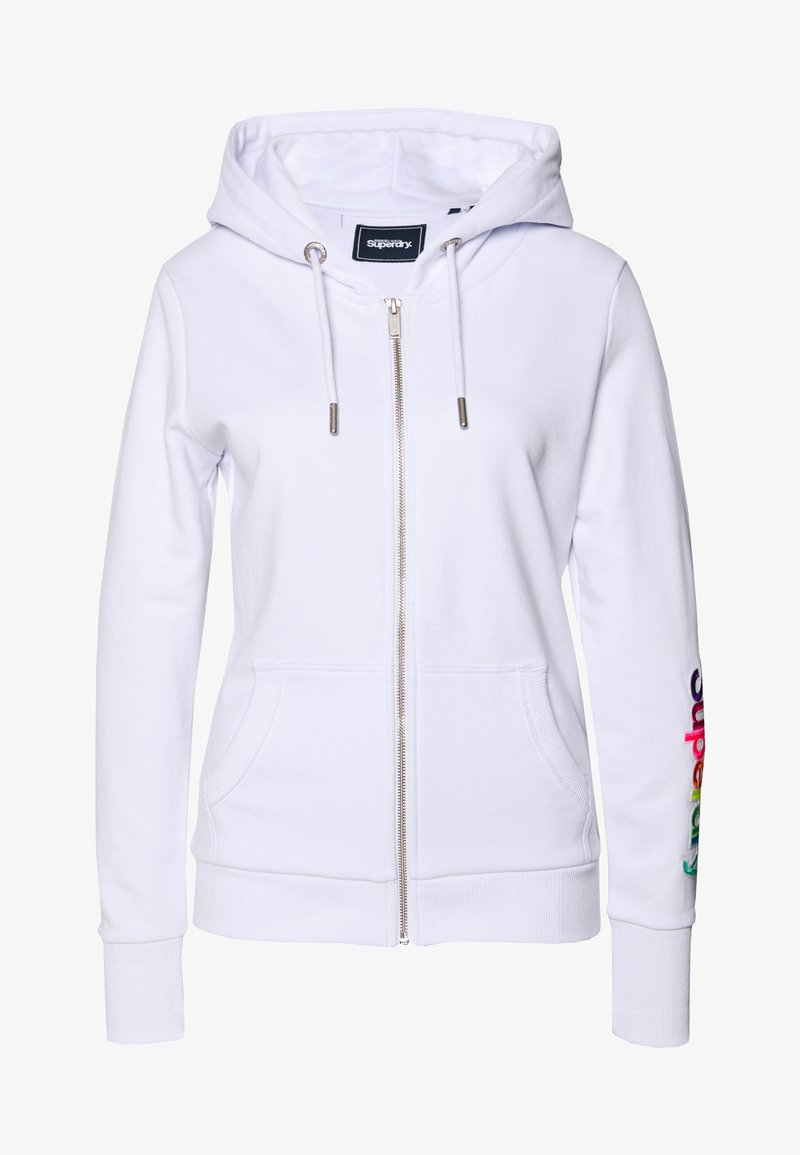 Superdry - SLEEVE ZIP HOOD - Hettejakke - optic